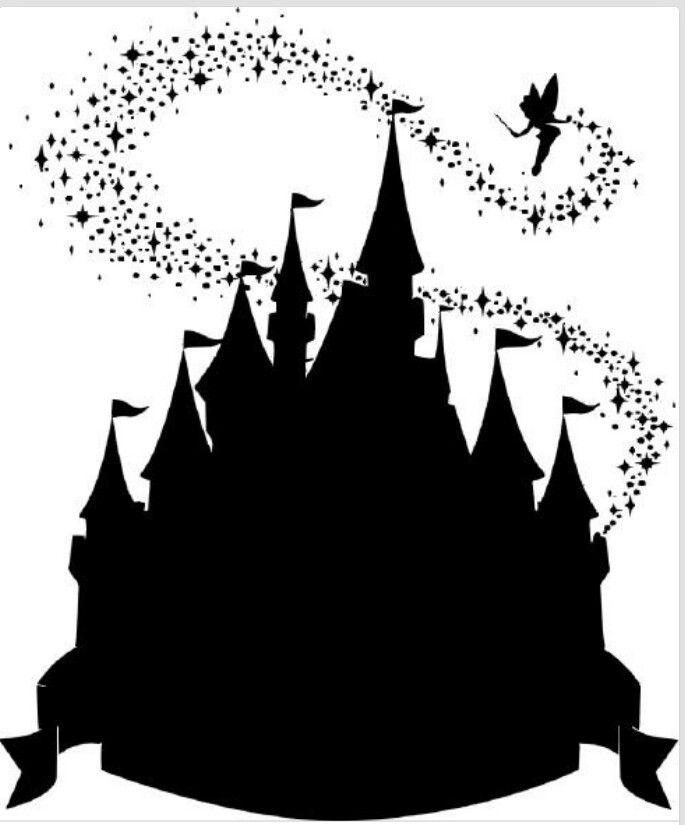 Magic kingdom clipart vector freeuse stock Cinderella Castle Silhouette magic kingdom silhouette clipart ... vector freeuse stock