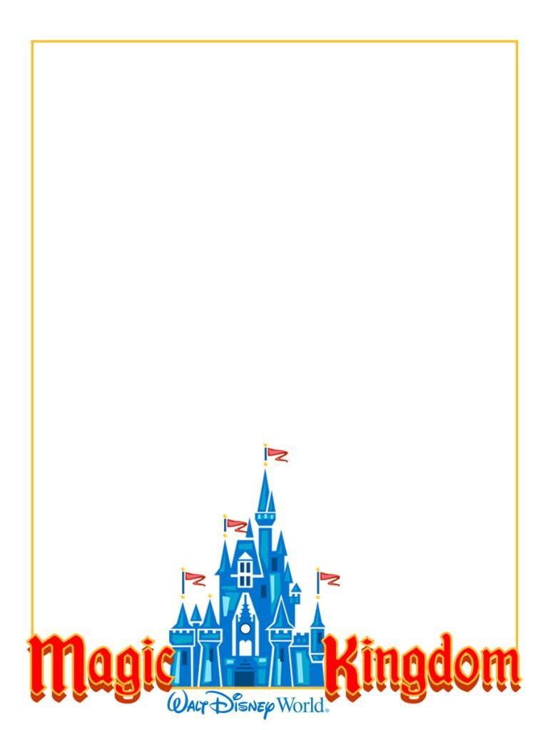 Magic kingdom clipart banner free download 3x4inch journal card for Project life or traditional scrapbooking ... banner free download