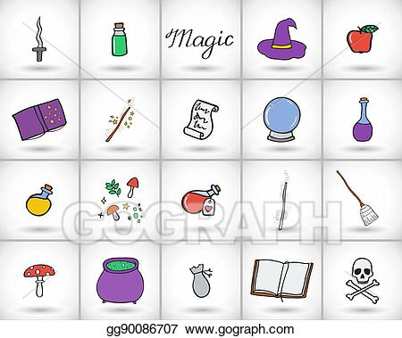 Magic set clipart freeuse Vector Illustration - Magic set. vector illustration. EPS ... freeuse