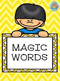 Magic words clipart