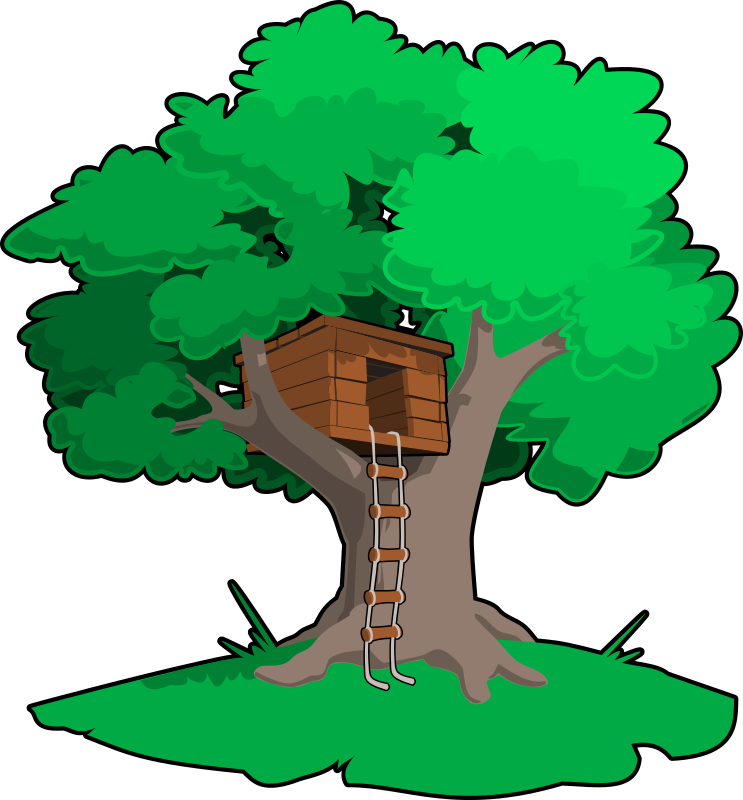 Magical tree clipart transparent stock Clipart - tree house transparent stock