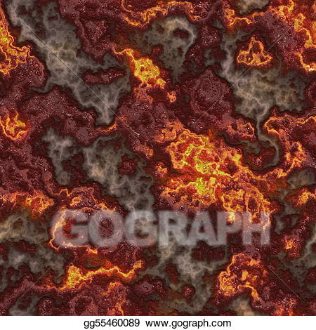 Magma texture clipart banner freeuse library Clipart - Seamless lava. Stock Illustration gg55460089 - GoGraph banner freeuse library