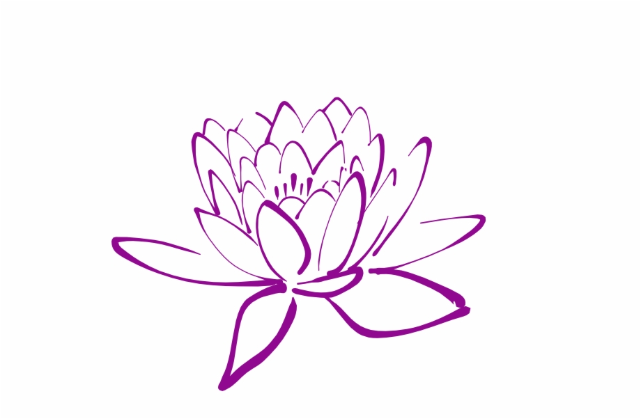 Magmolia clipart clip art free library Magnolia Flower Clip Art - Lotus Outline Png Free PNG Images ... clip art free library