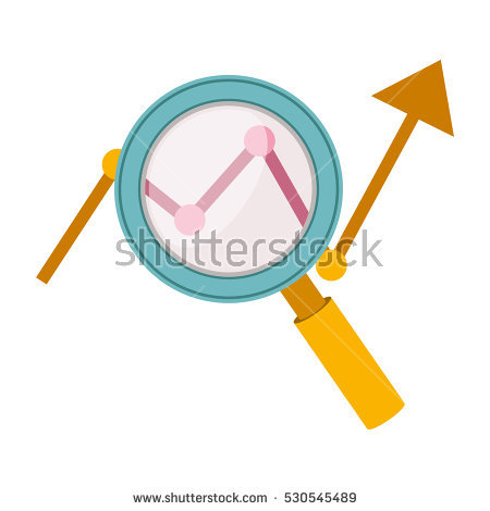 Magnifying clipart with arrow head picture freeuse download Silhouettes Magnifier Stock Photos, Royalty-Free Images & Vectors ... picture freeuse download
