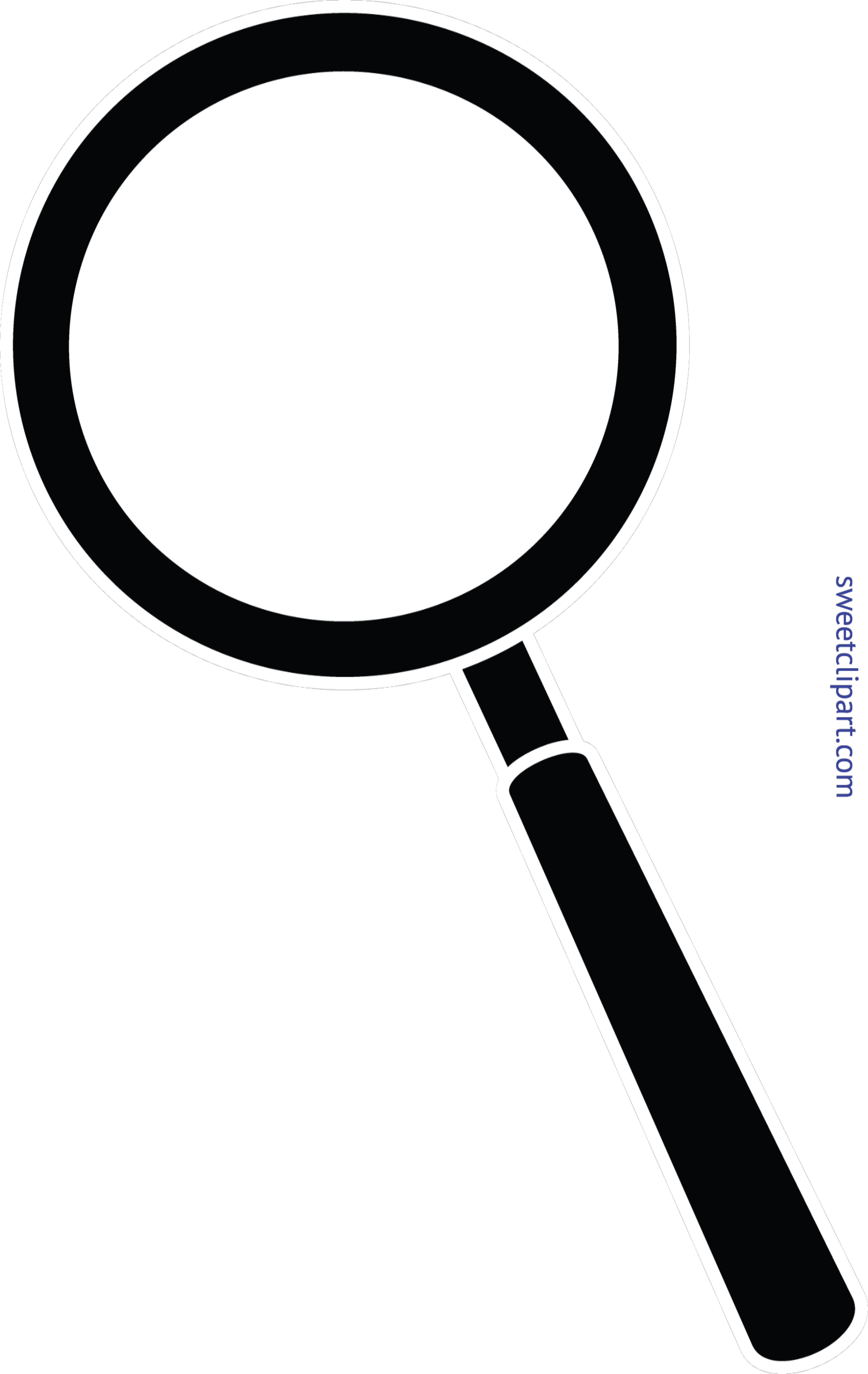 Magnifying glass and book clipart graphic black and white stock Magnifying Glass Black Clip Art - Sweet Clip Art graphic black and white stock