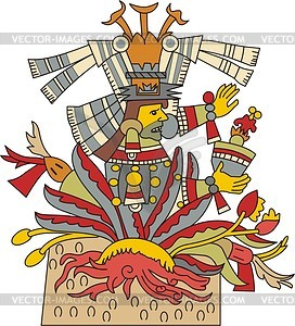 Maguey clipart clipart free library Mayahuel - Aztec goddess of maguey plant - vector clipart clipart free library