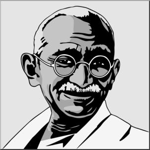 Mahatma gandhi clipart png download Clip Art: India: Mahatma Gandhi Grayscale I abcteach.com ... png download