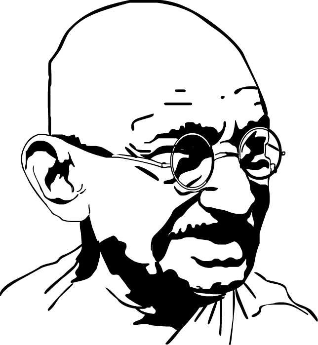 Mahatma gandhi clipart clip art freeuse stock Mahatma Gandhi Drawing   Free download best Mahatma Gandhi ... clip art freeuse stock
