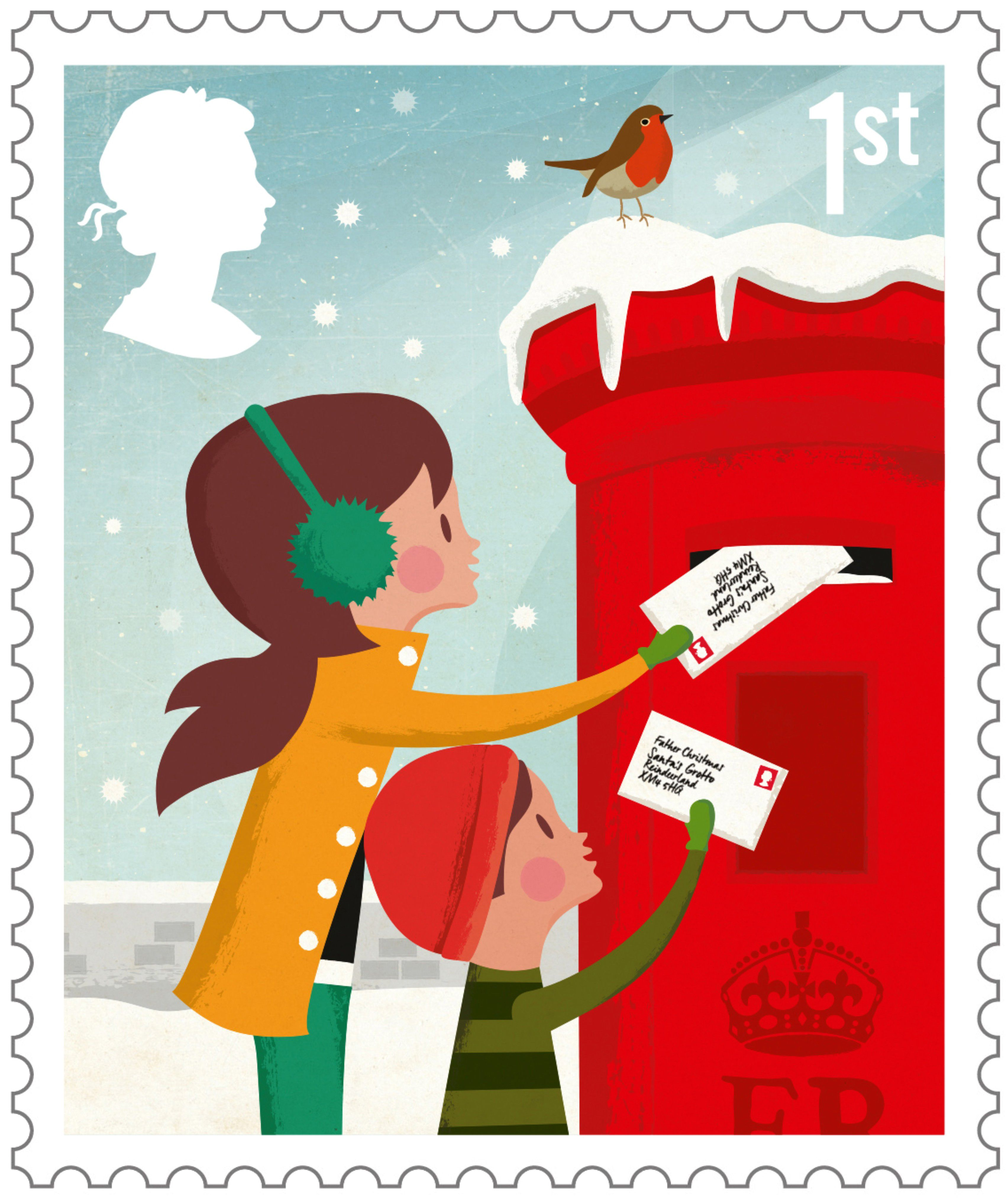 Mailing chrsitmas cards clipart picture transparent stock christmas postage stamps vintage royal mail - Google Search ... picture transparent stock