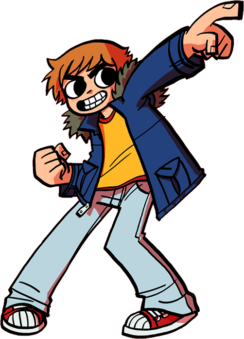 Main character traits clipart graphic black and white Scott Pilgrim / Characters - TV Tropes graphic black and white
