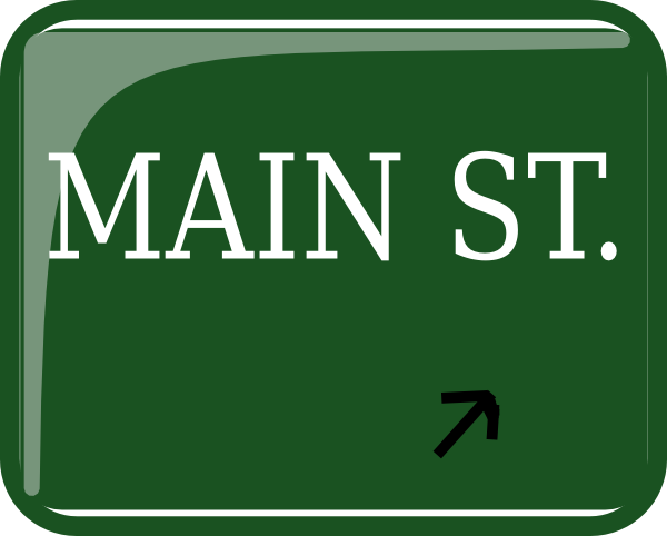Main clipart graphic black and white library Main Street Sign Clipart - Clipart Kid graphic black and white library