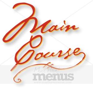 Main course clip art picture transparent Main Course Emphasis | Menu Courses Word Art picture transparent