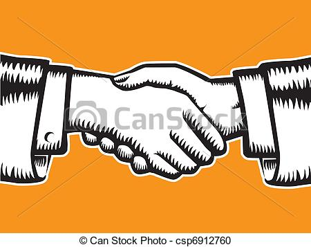 Main dans la main clipart clip royalty free stock Vector Clipart of Handshake symbol - Handshake, partnership symbol ... clip royalty free stock