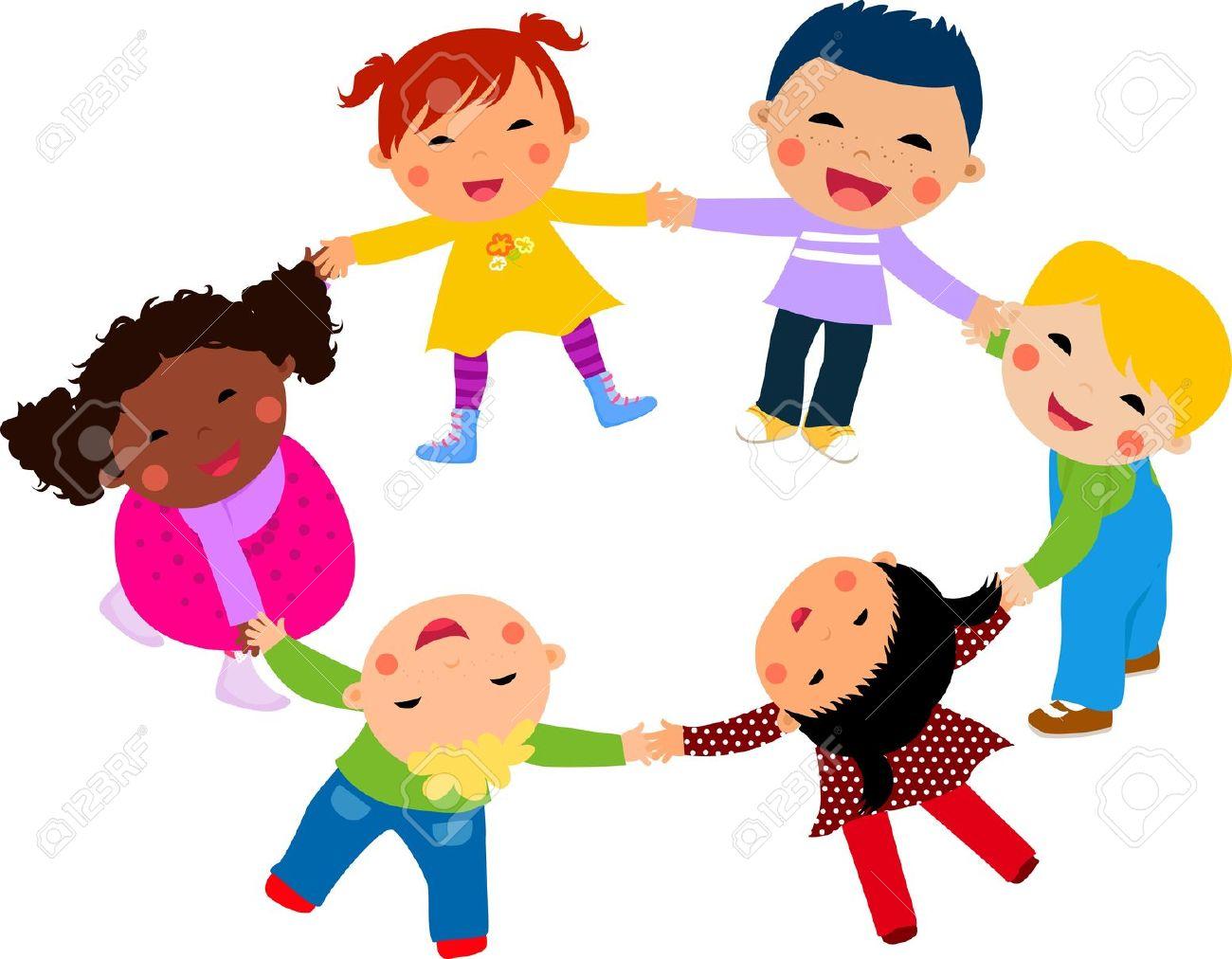 Main dans la main clipart graphic transparent Heureux Les Enfants à La Main Dans La Main Autour-illustration ... graphic transparent