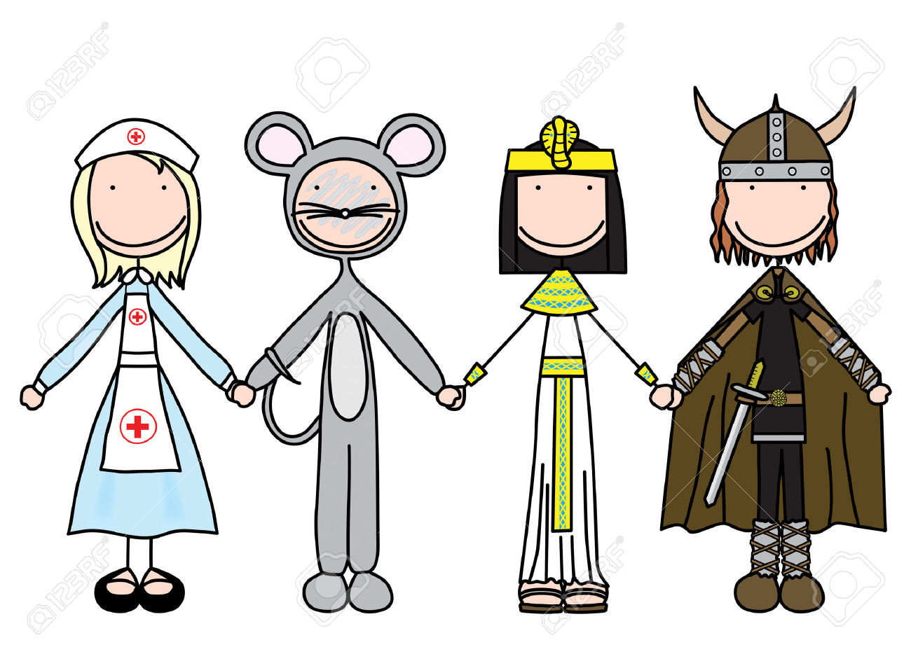Main dans la main clipart transparent download Illustration De Quatre Enfants, Main Dans La Main En Costumes Clip ... transparent download