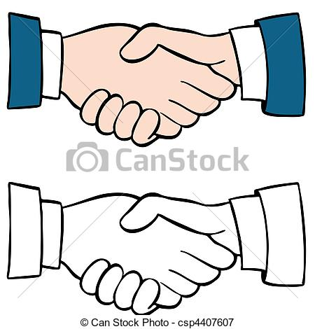 Main dans la main clipart graphic black and white library Stock Illustrations of Handshake Set csp4407607 - Search EPS ... graphic black and white library