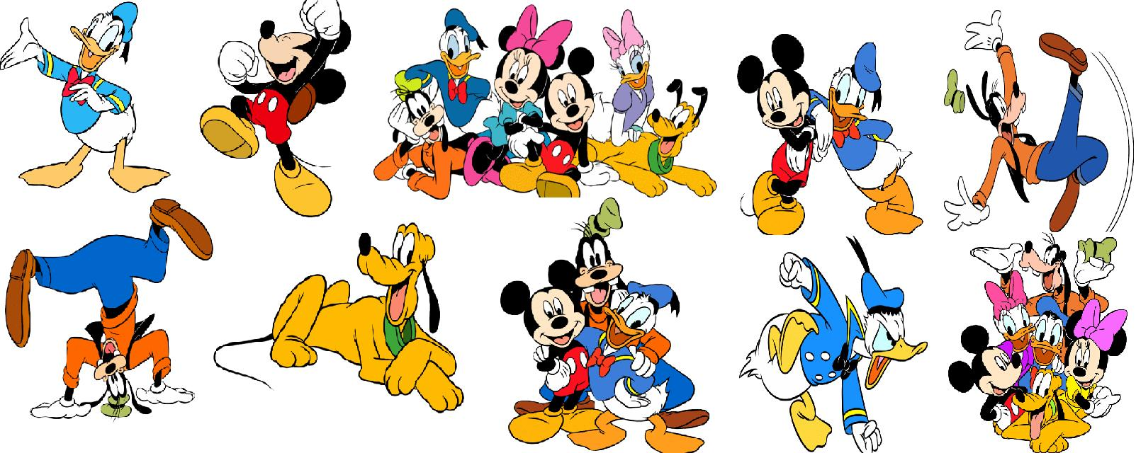Main disney characters clipart clip library Walt disney characters clipart on my way to disney - ClipartFest clip library