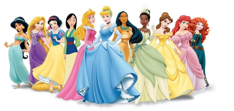 Main disney characters clipart picture freeuse library List of all Disney Princesses picture freeuse library