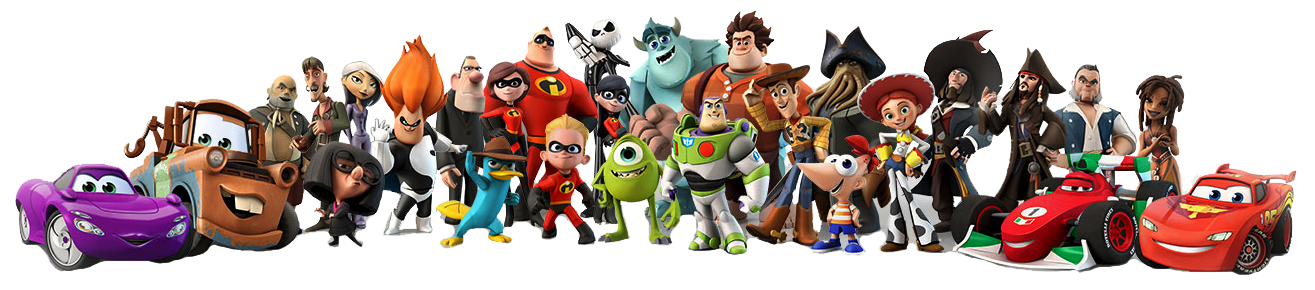 Main disney characters clipart svg black and white library Assorted Disney Characters Together Clipart svg black and white library