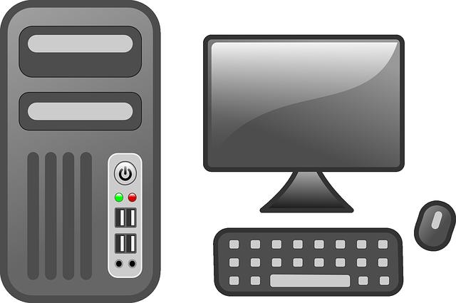 Main frame computer clipart clip art Free vector graphic: Computer, Desktop, Computer Monitor - Free ... clip art