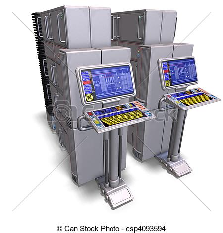Main frame computer clipart graphic free Clipart mainframe computer - ClipartFest graphic free