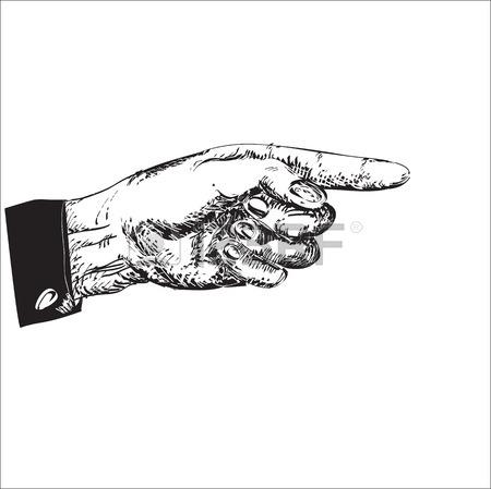 Main gauche clipart png free stock Main Gauche Avec L'index Pointant, Illustration En Noir Et Blanc ... png free stock
