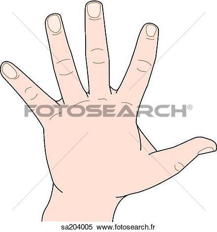 Main gauche clipart image Banque d'Illustrations - externe, anatomie, de, les, main gauche ... image