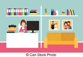 Main office clipart graphic library Home office clipart - ClipartFest graphic library
