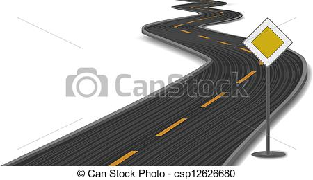 Main road clipart