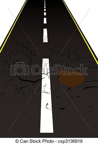 Main road clipart clip royalty free download EPS Vectors of road pot hole - Main road with cracked mettled ... clip royalty free download