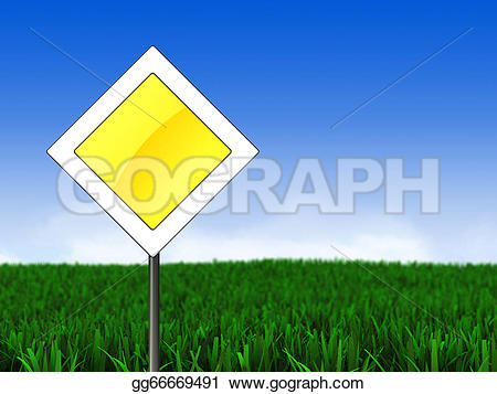 Main road clipart vector transparent Clipart - Meadow and main road sign. Stock Illustration gg66669491 ... vector transparent