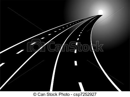Main road clipart clip art royalty free download Vectors Illustration of Roads and tunnels - Tunnel and two main ... clip art royalty free download