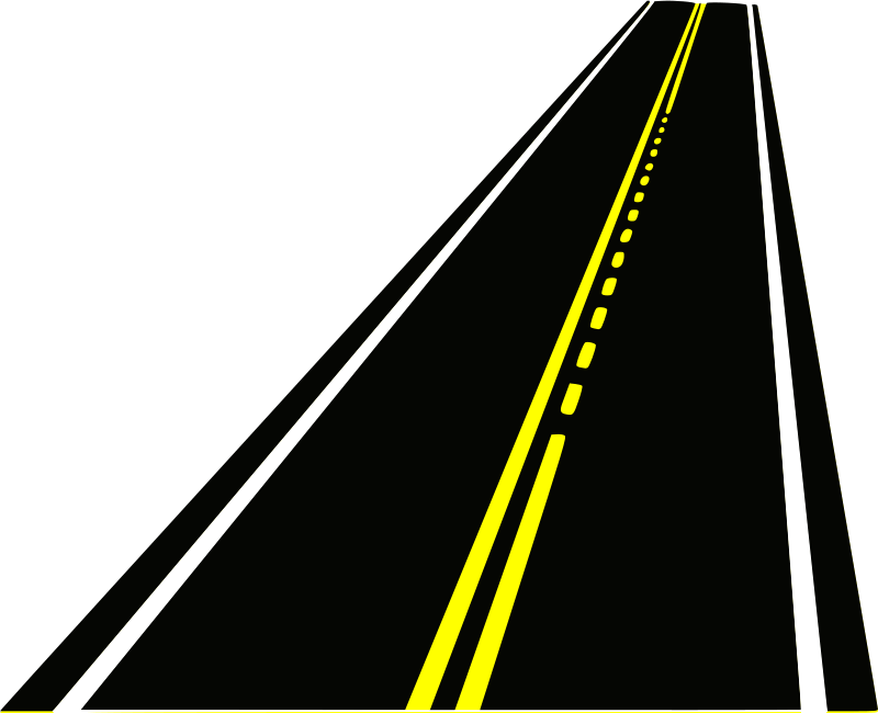 Roadway with cross clipart free