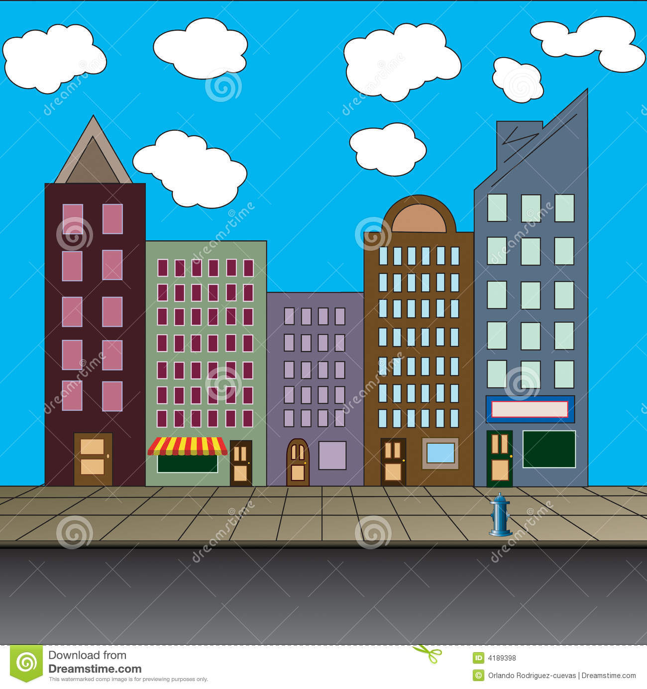 Main street clipart graphic freeuse library Main Street Clipart - Clipart Kid graphic freeuse library