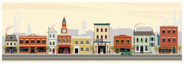 Main street clipart graphic free stock Clipart high street - ClipartFox graphic free stock