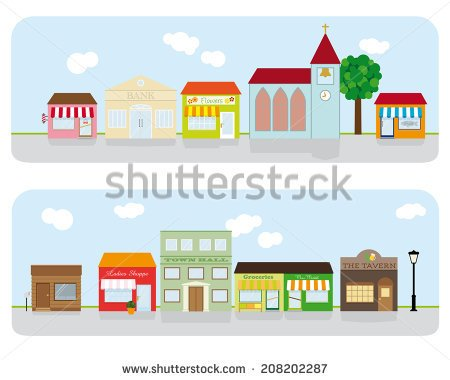 Main street clipart png freeuse library Small town tree lined main street clipart - ClipartFox png freeuse library