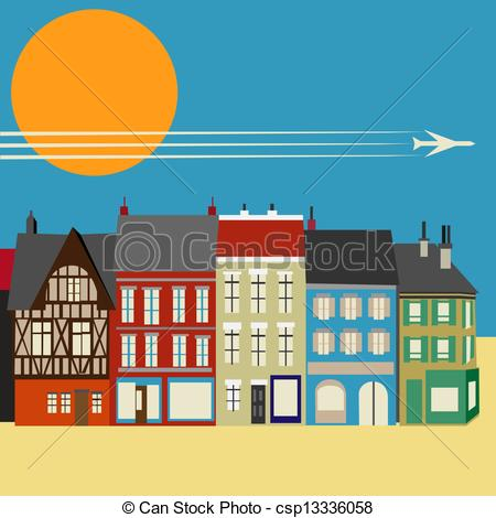 Main street clipart picture freeuse stock Town Street Clipart - Clipart Kid picture freeuse stock