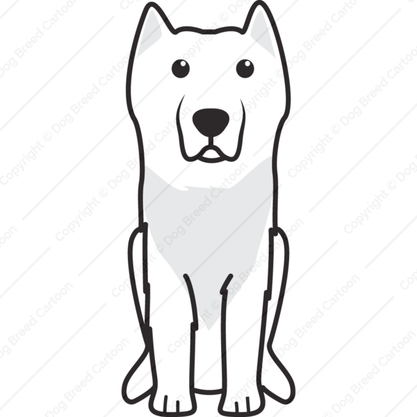 Maine coon cat wears crown cartoon clipart vector black and white Aryan Molossus | Linear Edition | Dog Breed Cartoon | Download Your ... vector black and white