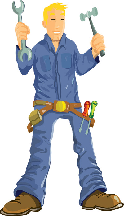 Maintenance man clipart vector black and white Maintenance Man Clip Art | Clipart Panda - Free Clipart Images vector black and white
