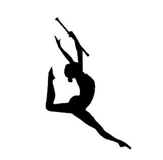 Majorette silhouette clipart clip art Silhouette Digital File, Majorette Leaping With Baton, Cameo ... clip art