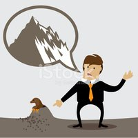 Make a mountain out of a mole hill clipart picture royalty free stock Making A Mountain Out of A Molehill stock vectors - Clipart.me picture royalty free stock