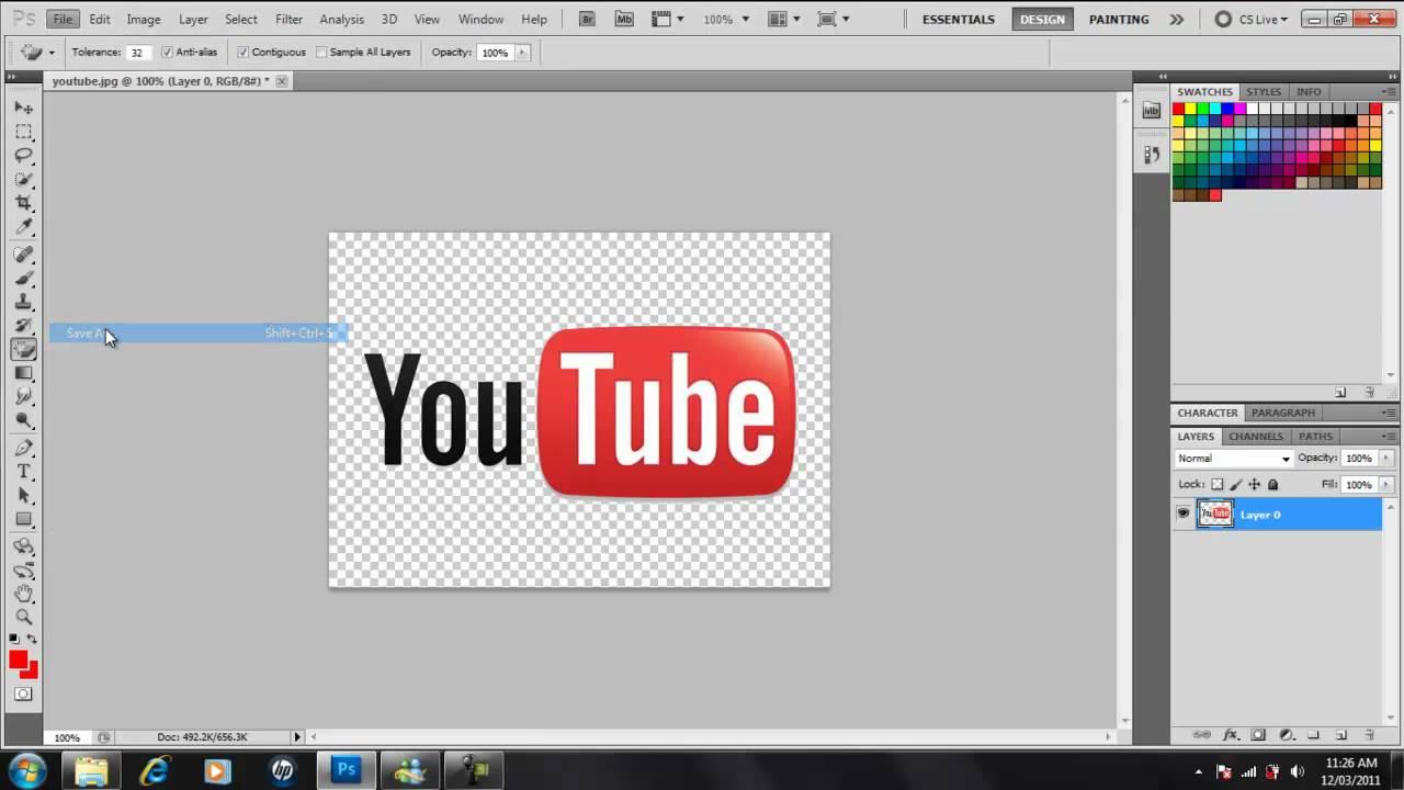 Make clipart background transparent