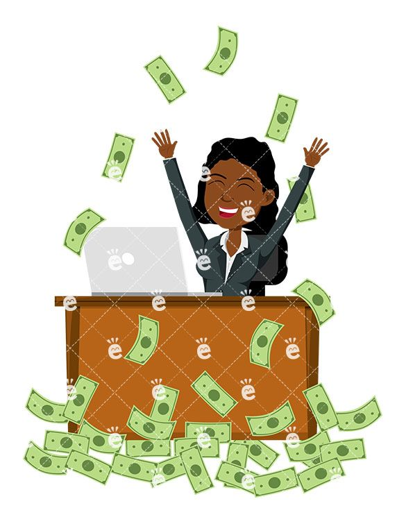 Money making clipart clipart library stock A Black Woman Celebrating As She\'s Making Money Online ... clipart library stock