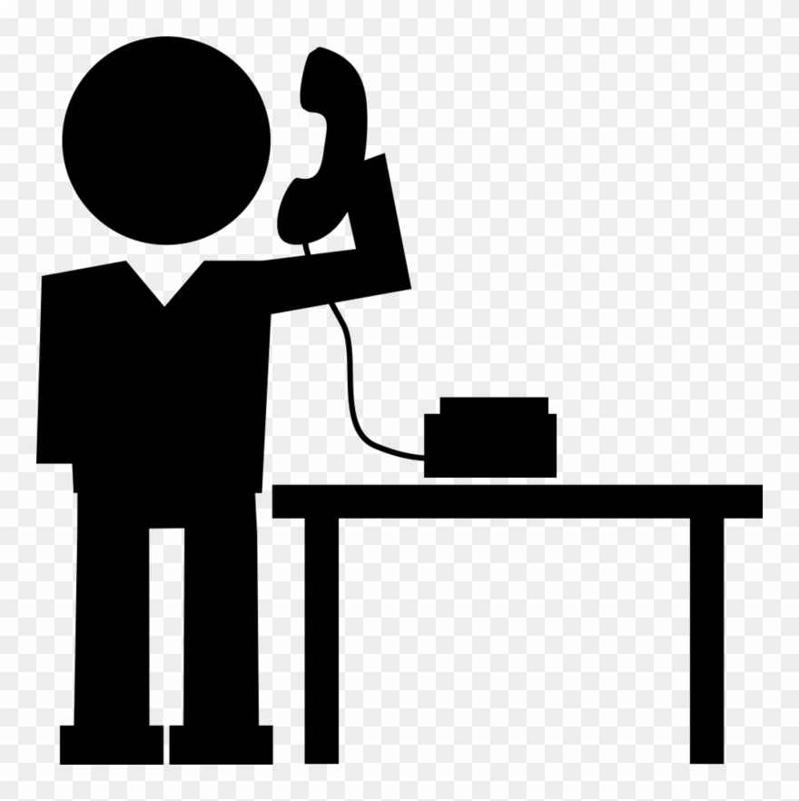 Make clipart image transparent picture black and white library Calling Transparent Png - Make A Call Icon Clipart (#3455747 ... picture black and white library