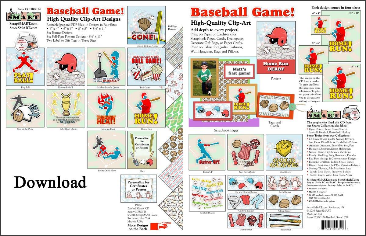 Make clipart into pdf clipart library library Amazon.com: ScrapSMART - Baseball Game - Clip Art Software ... clipart library library
