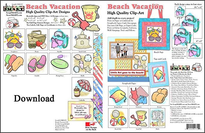 Make clipart into pdf clip freeuse stock Amazon.com: ScrapSMART - Beach Vacation - Clip Art Software ... clip freeuse stock