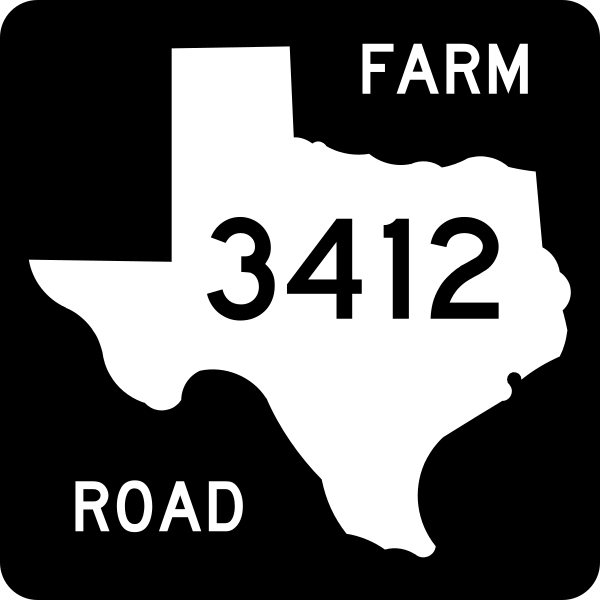 Make my own interstate shield clipart graphic black and white File:Texas FM 3412.svg - Wikipedia graphic black and white
