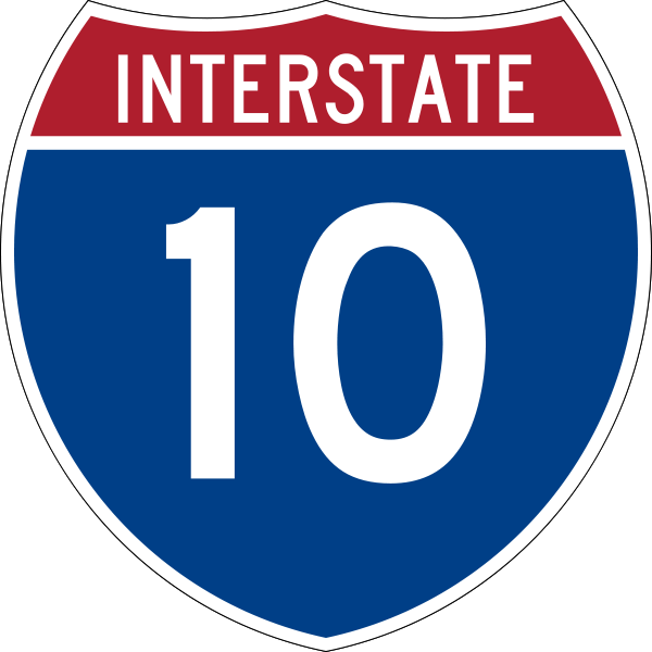 Make my own interstate shield clipart image library library I-10 is the fourth longest Interstate Highway in the United ... image library library