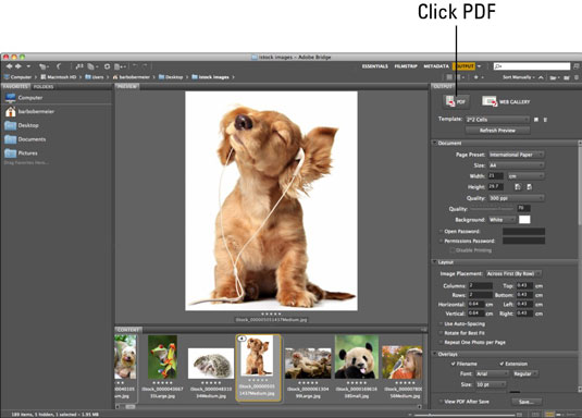 Make pdfs fron large cliparts at original quality adobe bridge jpg royalty free stock How to Create PDF Presentations from Photoshop CS6 Files in ... jpg royalty free stock
