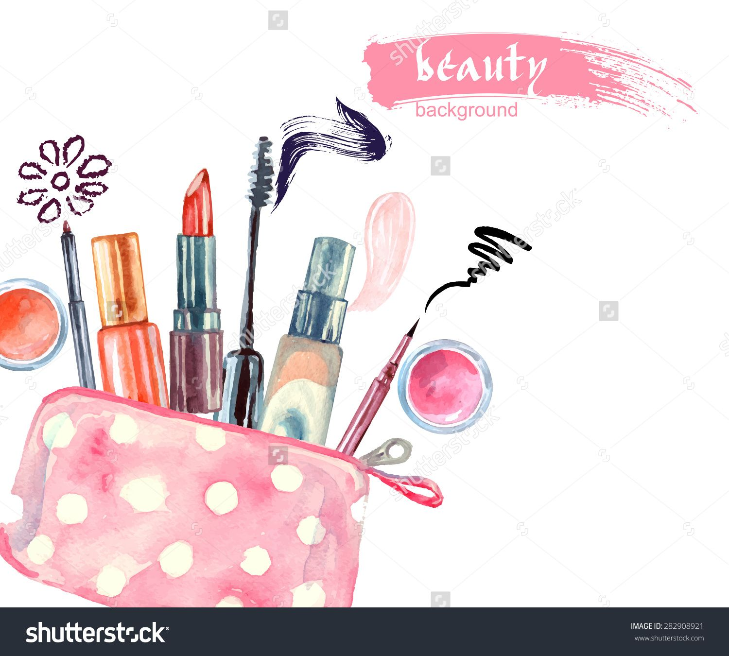 Makeup artist clipart graphic library download colors too busy, but nice art otherwise   Blog Logo ... graphic library download